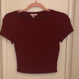 Maroon Fitted Tee